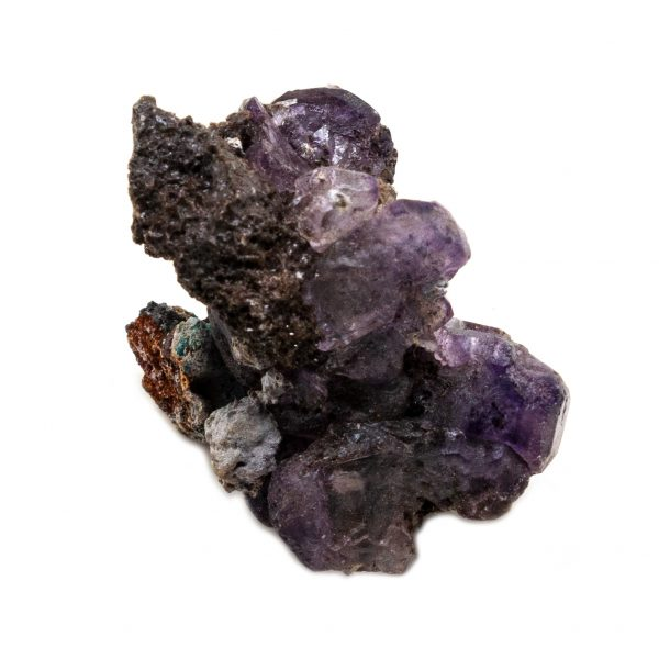 Violet Fluorite Crystal on Matrix-202715