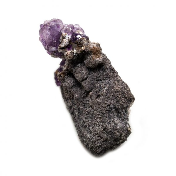 Violet Fluorite Crystal on Matrix-202756