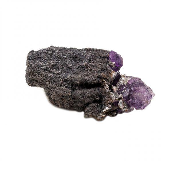 Violet Fluorite Crystal on Matrix-202757