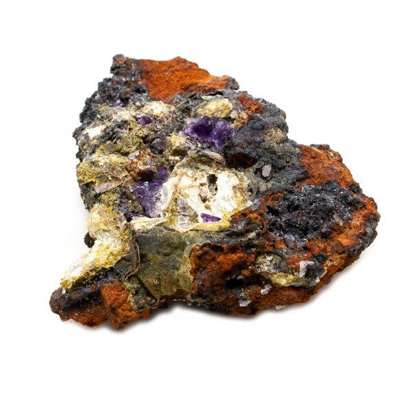 Violet Fluorite Crystal on Matrix-202771