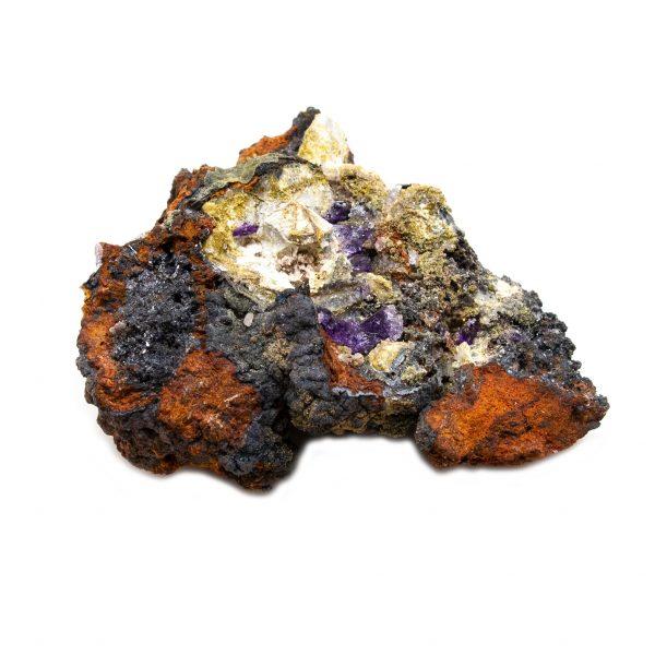 Violet Fluorite Crystal on Matrix-202772