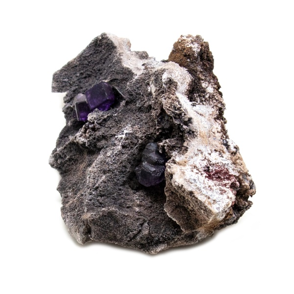 Violet Fluorite Crystal on Matrix-202776