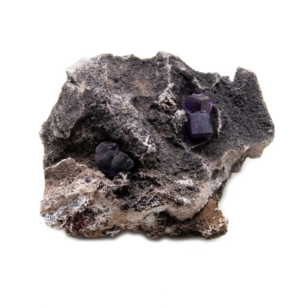 Violet Fluorite Crystal on Matrix-202778