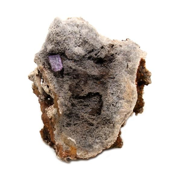 Violet Fluorite Crystal on Matrix-202788