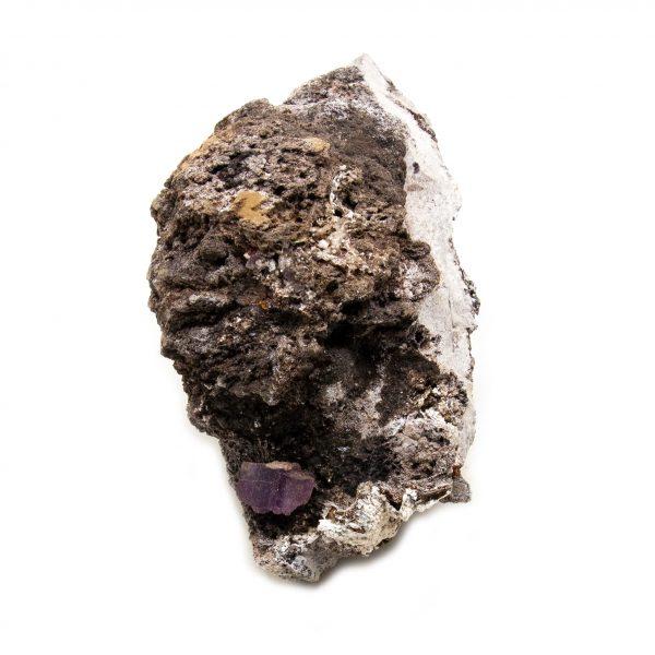 Violet Fluorite Crystal on Matrix-202792