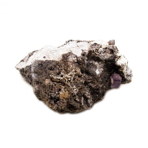 Violet Fluorite Crystal on Matrix-202791