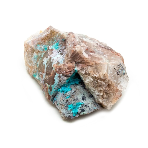 Shattuckite Cluster with Chrysocolla and Azurite-204040