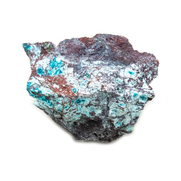 Shattuckite Cluster with Chrysocolla and Azurite-204047