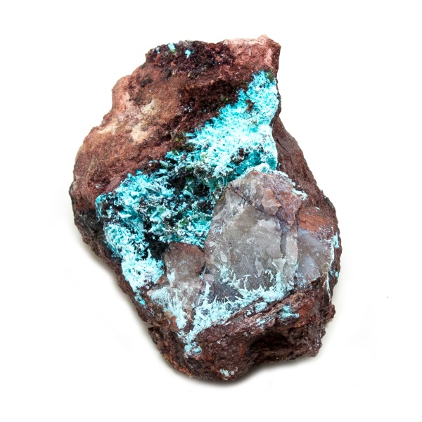 Shattuckite Cluster with Chrysocolla and Azurite-204064