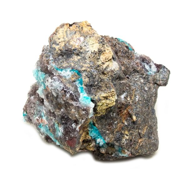Shattuckite Cluster with Chrysocolla and Azurite-204124