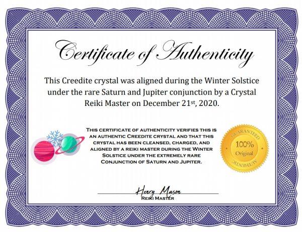 Solstice Aligned Creedite Cluster-216670