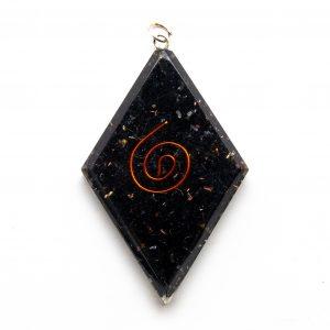 Shungite Orgonite Diamond Pendant-0