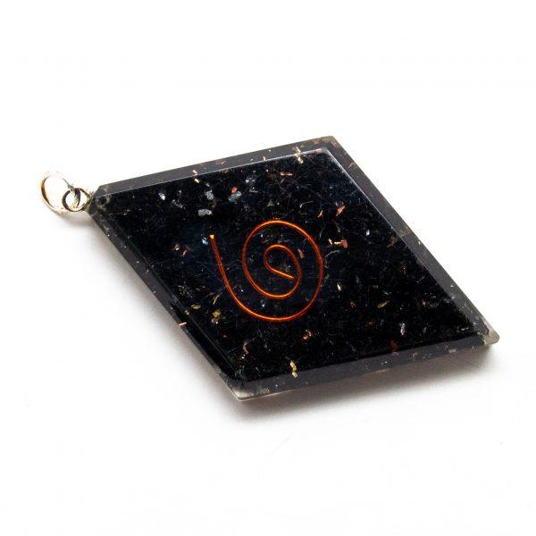 Shungite Orgonite Diamond Pendant-206179