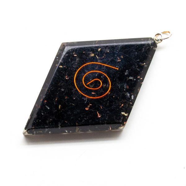 Shungite Orgonite Diamond Pendant-206180