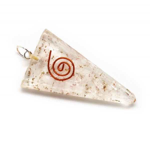 Selenite Orgonite Point Pendant-206209