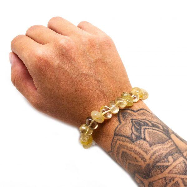 Rutilated and Clear Quartz Bracelet-206226