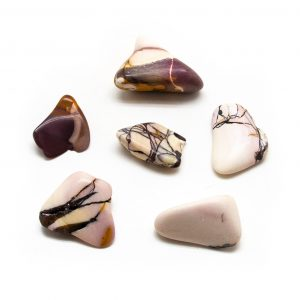 White Mookaite Tumbled Stone Set (Extra Large)-0