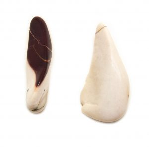 White Mookaite Aura Stone Pair (Small)-0