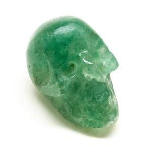 Green Hummingbird Quartz Skull-0