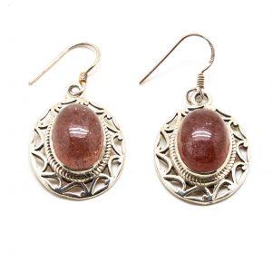 S.S. Red Hummingbird Quartz Earrings-0