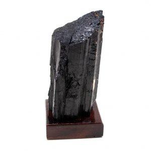 Black Tourmaline on Wood Base-208555
