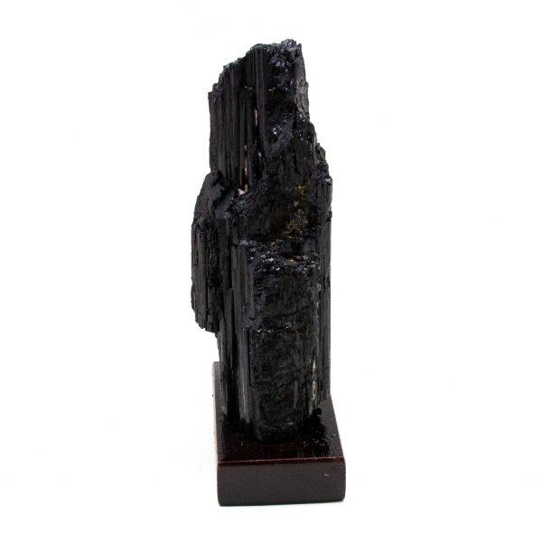 Black Tourmaline on Wood Base-208559