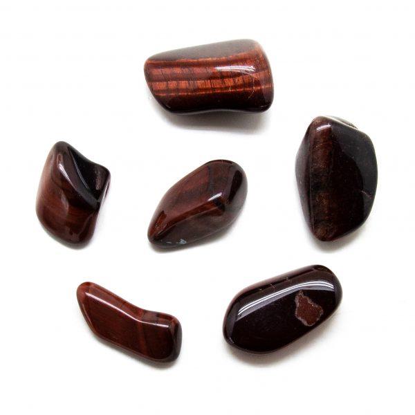 Red Tiger's Eye Tumbled Stone Set (Extra Large)-207743