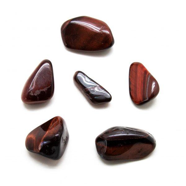 Red Tiger's Eye Tumbled Stone Set (Extra Large)-207744
