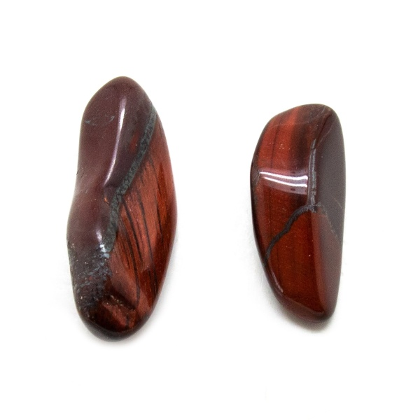 Red Tiger's Eye Aura Stone Pair (Small)-0