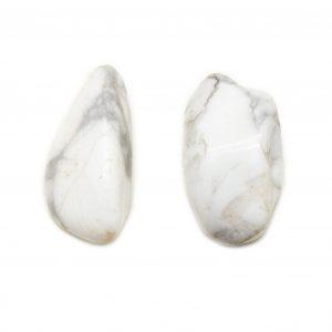 Howlite Aura Stone Pair (Small)-0
