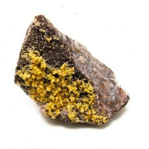 Mimetite with Calcite Cluster-0