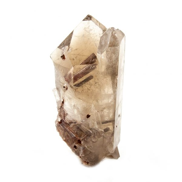 Rutilated Red Epidote in Smoky Quartz Crystal-212272