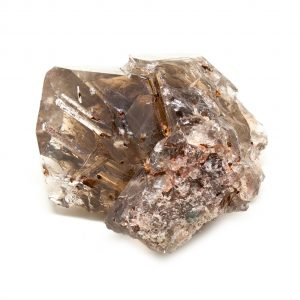 Rutilated Red Epidote in Smoky Quartz Crystal-212286