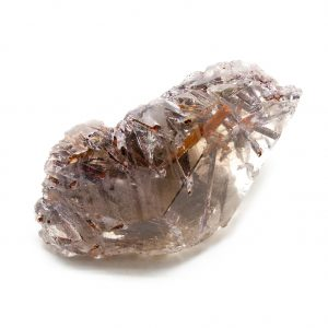 Rutilated Red Epidote in Smoky Quartz Crystal-212291
