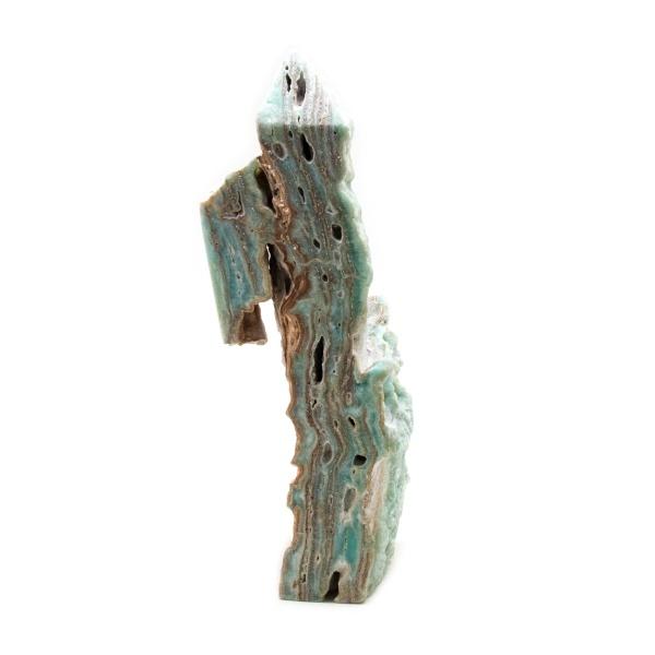 Blue Caribbean Calcite Freeform Wand-215201