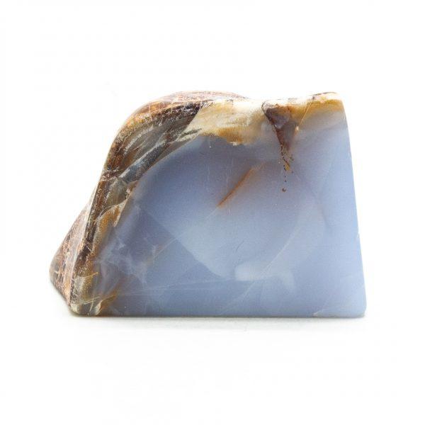 Polished Blue Chalcedony Display Piece-0
