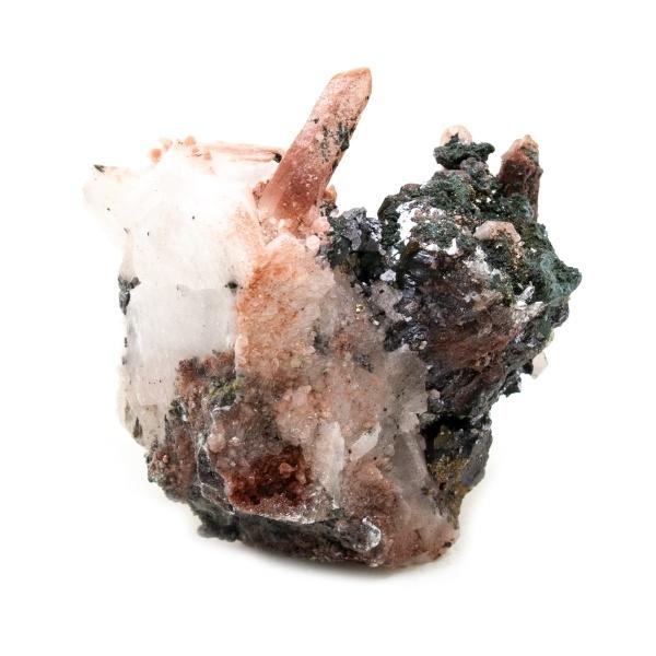 Fire Quartz with Chalcopyrite Crystal-218408
