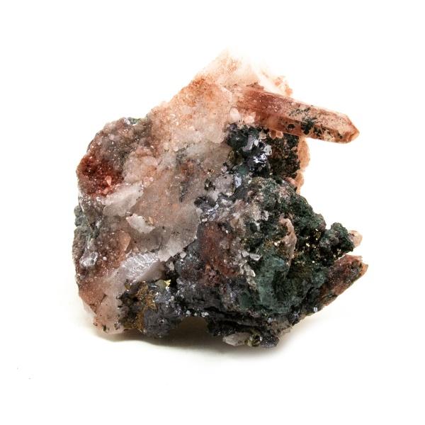 Fire Quartz with Chalcopyrite Crystal-218409