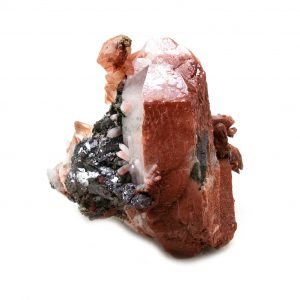 Fire Quartz with Chalcopyrite Crystal-0