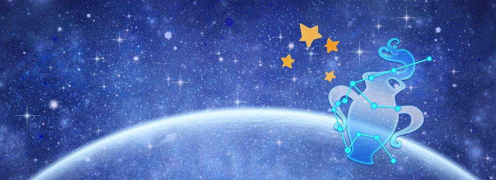 —Pngtree—constellation aquarius cartoon pattern cyan_1061766