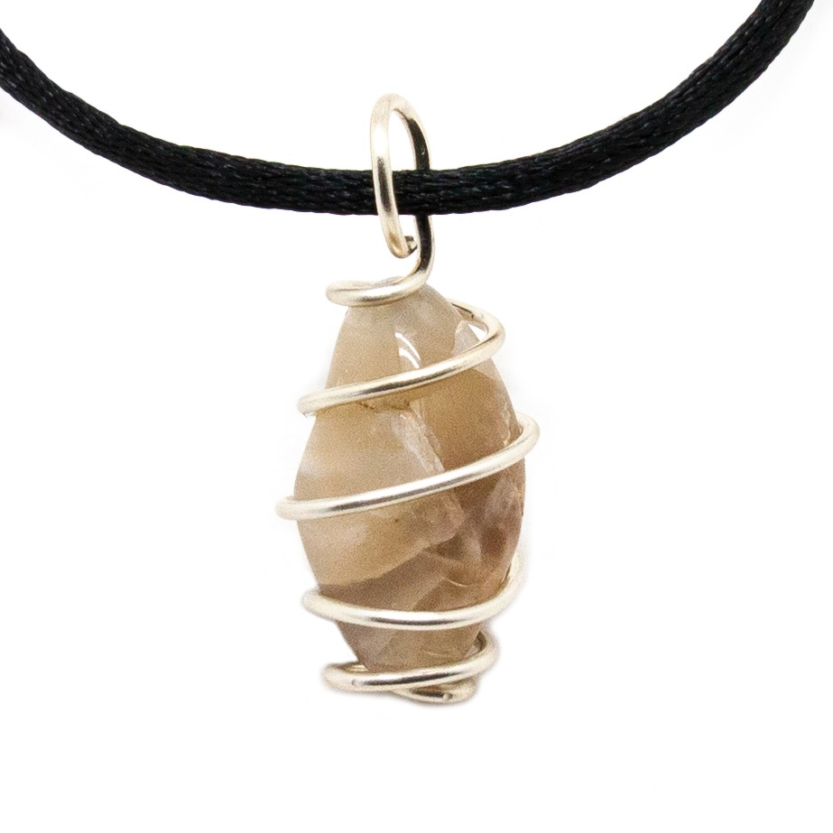 Opalite Moonstone Atlantis Chakra Healing Stone Jewelry Kida Necklace Long Slender Point Crystal on Faux Leather Men/'s Crystal Necklace