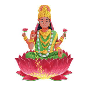goddess crystals lakshmi art - free crystal guides