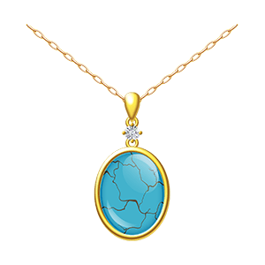 turquoise gold jewelry necklace - free crystal guides