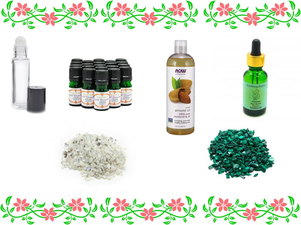 crystal aromatherapy recipes items needed